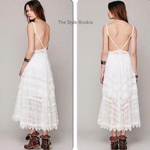NWT! Free People S Crochet Lace Maxi Dress Wedding